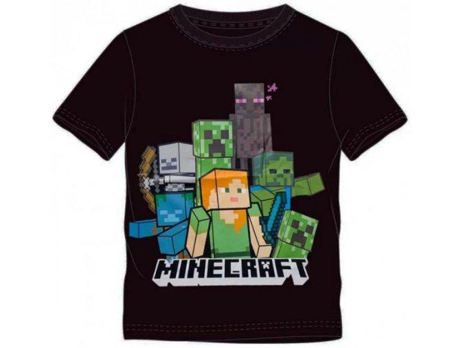 Tričko Minecraft 023 | Černé