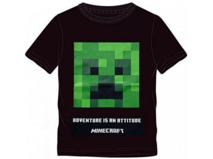 Tričko Minecraft 022 | Černé