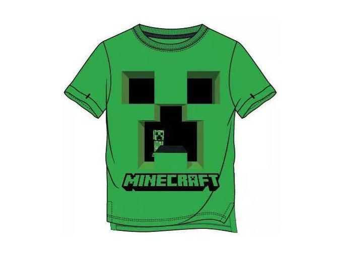 Tričko Minecraft 021 | Zelené