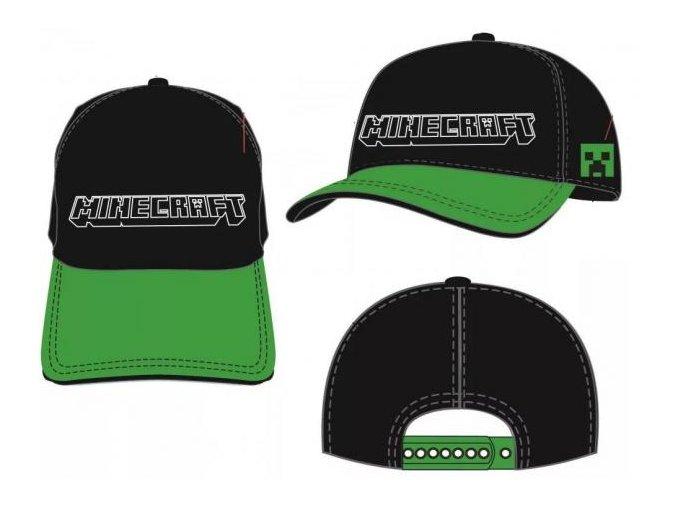 Kšiltovka Minecraft j025 | Černo-zelená