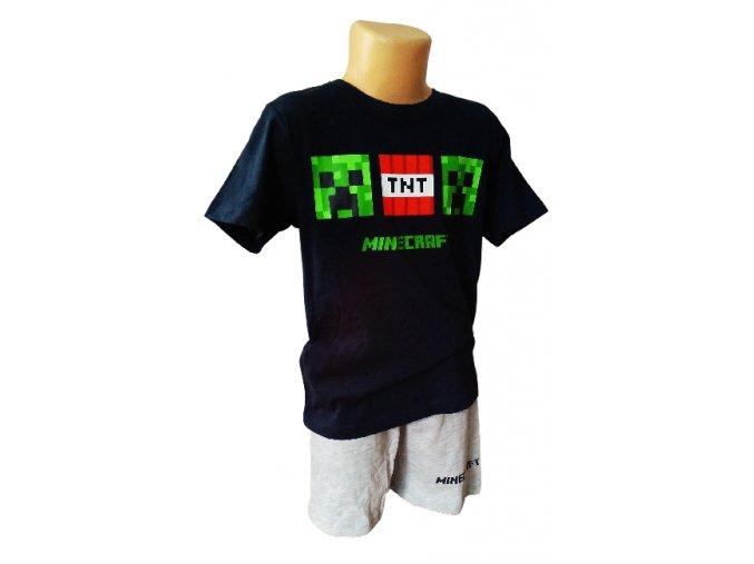 Pyžamo minecraft 38596 černá