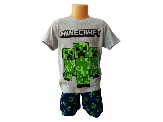 Pyžamo minecraft 38596 šedá