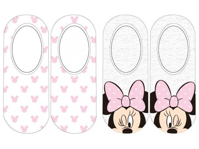 Ponožky Minnie | MF 52 34 8182 | Bílé / šedé