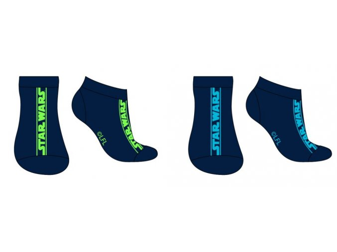 Ponožky Star Wars | SW 53 34 5220 | Modré