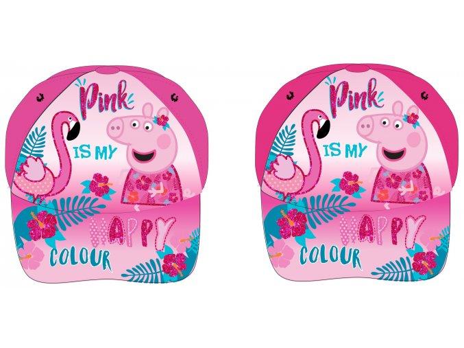 Kšiltovka Prasátko Peppa | PP 52 39 734 | Světle / tmavě růžová