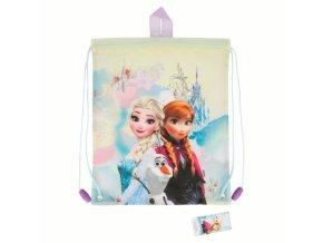 drawstring lunch bag frozen floral
