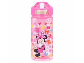square water bottle 530 ml minnie so edgy bows