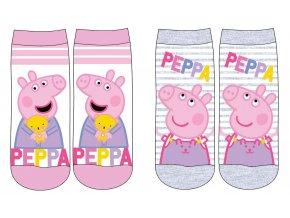 Ponožky Prasátko Peppa   52 34 745   Růžová / šedá