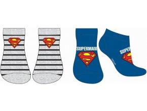 Ponožky Superman   52 34 211   Modrá / šedá