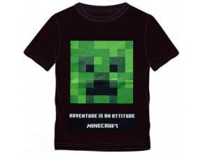 Tričko Minecraft 022   Černé
