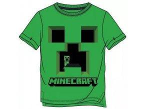 Tričko Minecraft 021   Zelené