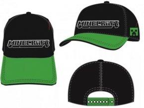 Kšiltovka Minecraft j025   Černo-zelená
