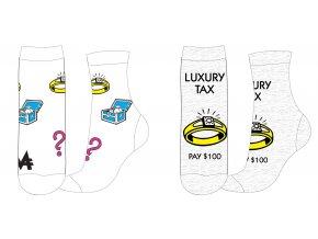 Ponožky Luxury tax | 53 34 009/010 SINGLE | Bílé / šedé