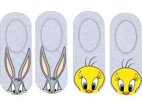 Ponožky Warner Bros | WB 52 34 536 | Šedé / žluté
