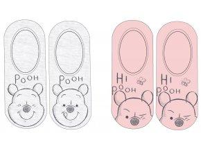 Ponožky Medvídek Pú | 52 34 8181 | Růžová / šedá