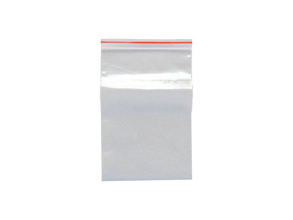 transparent zip sáček