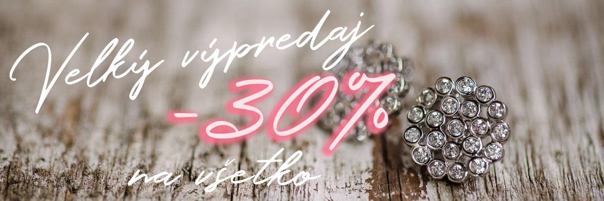 Velký výpredaj -30% Striebro Online