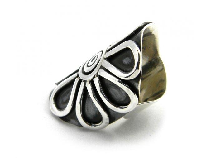 Prsten strieborný kvet