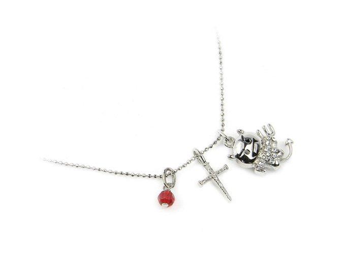 Strieborný náhrdelník certík
