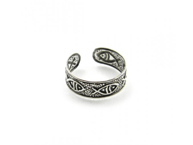 Strieborný prsten na nohu