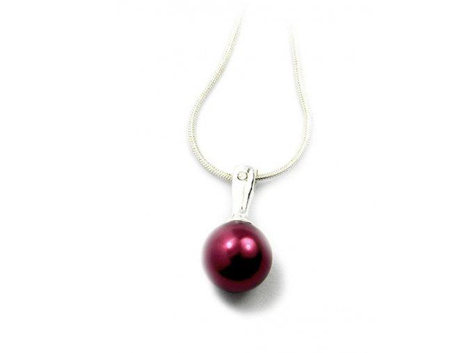 Strieborný perlový prívesok