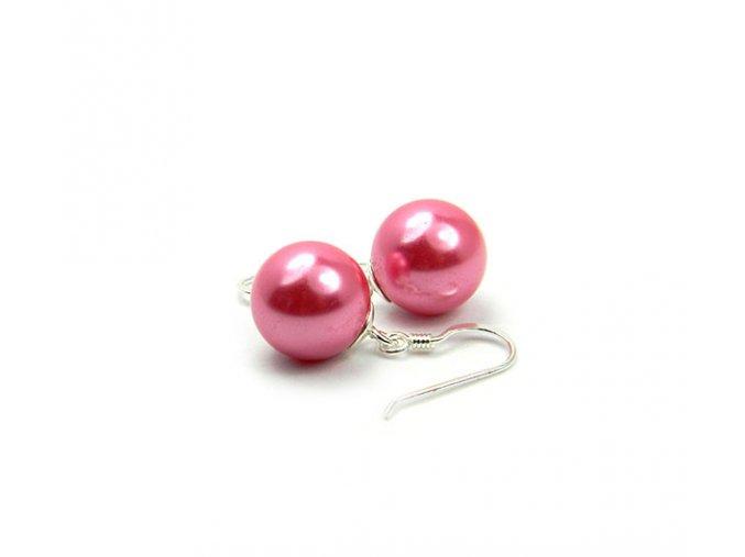 Strieborné perlové náušnice