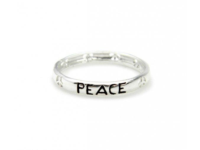 """Prsten strieborný """"peace"""""""