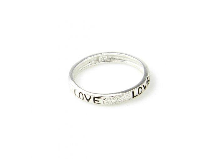 """Prsten strieborný """"love"""""""