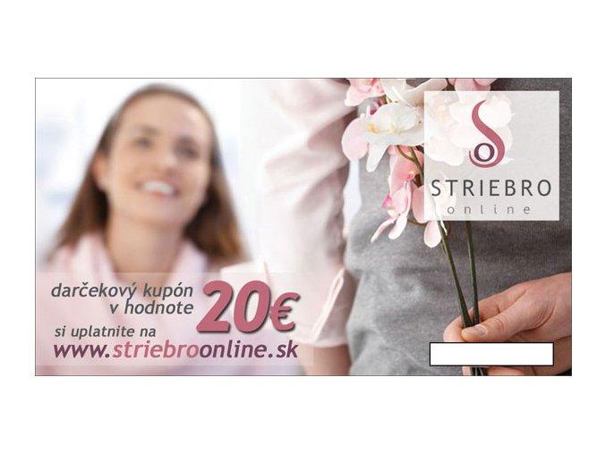 Darcekový kupón v hodnote 20€