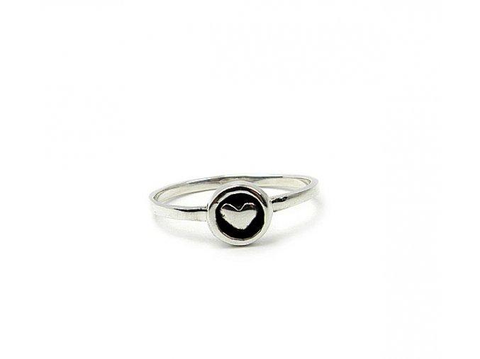 Strieborný prsteň srdiečko