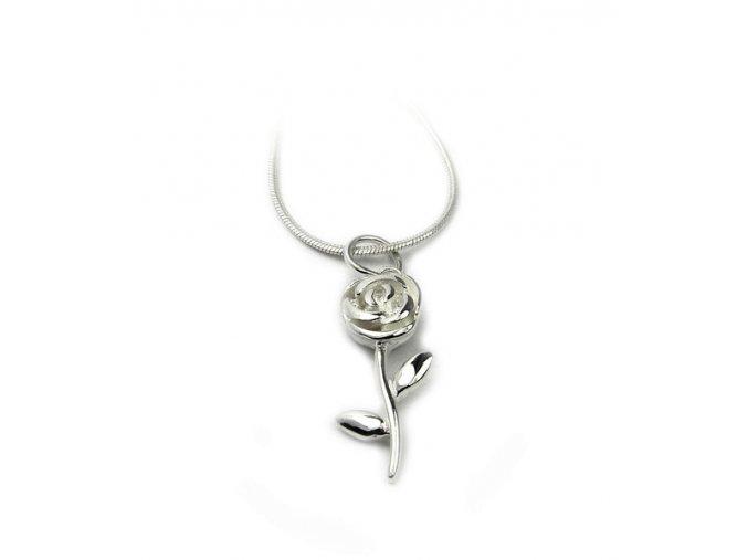 Strieborný prívesok ruža