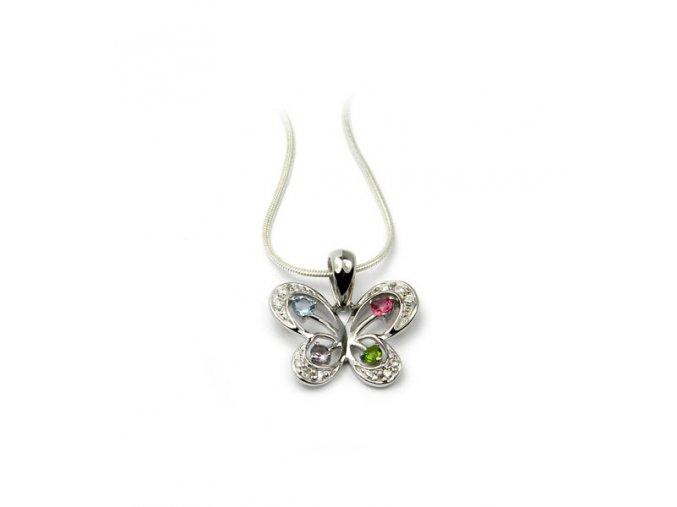 Strieborný prívesok motýl