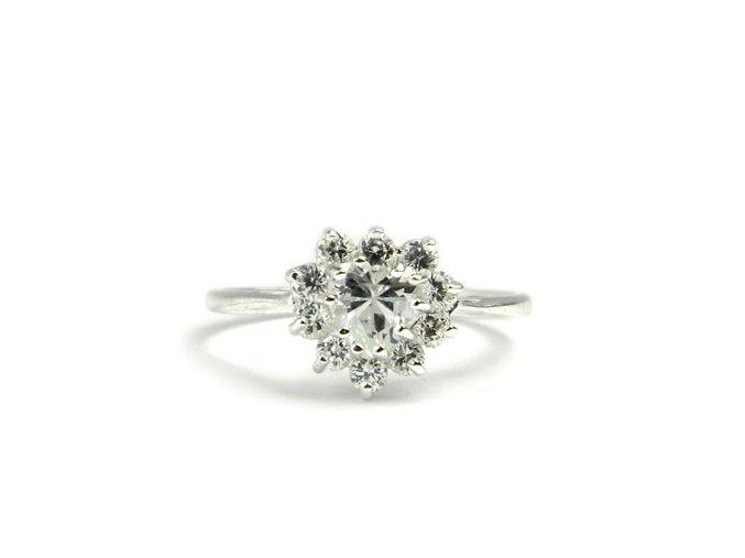 Strieborný prsten srdiecko