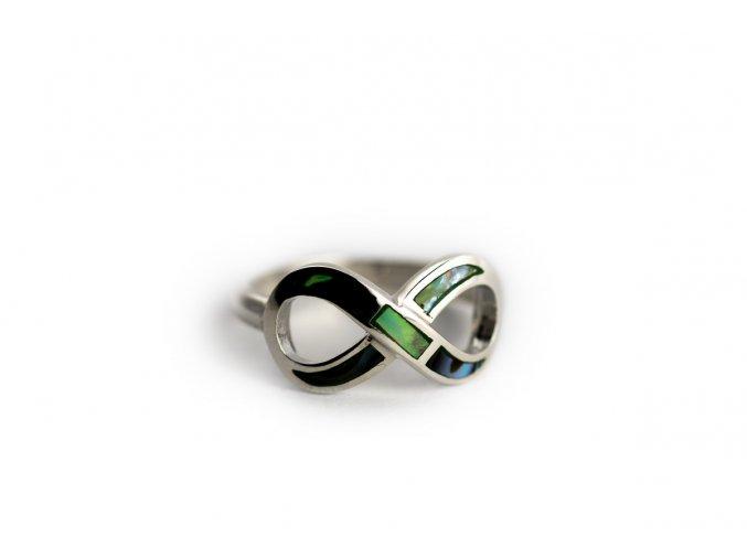 Strieborný prsteň infinity