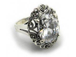 Zásnubný strieborný prsten