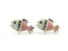 Detské strieborné náušnice rybka