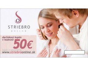Darcekový kupón v hodnote 50€