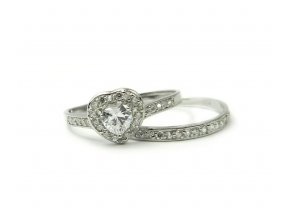 Strieborný prsten 2v1 srdiecko