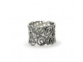 Strieborný prsten swirl