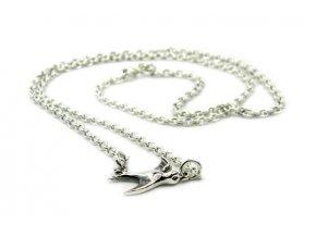 Nádherný strieborný náhrdelník holubica