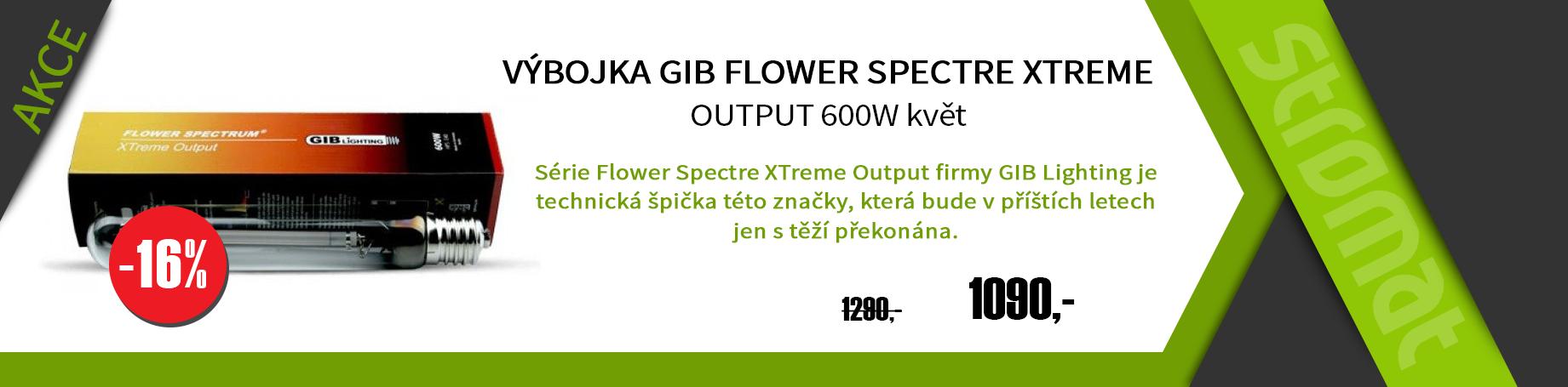 Květová výbojka Gib Flower spectre XTREME OUTPUT 600W