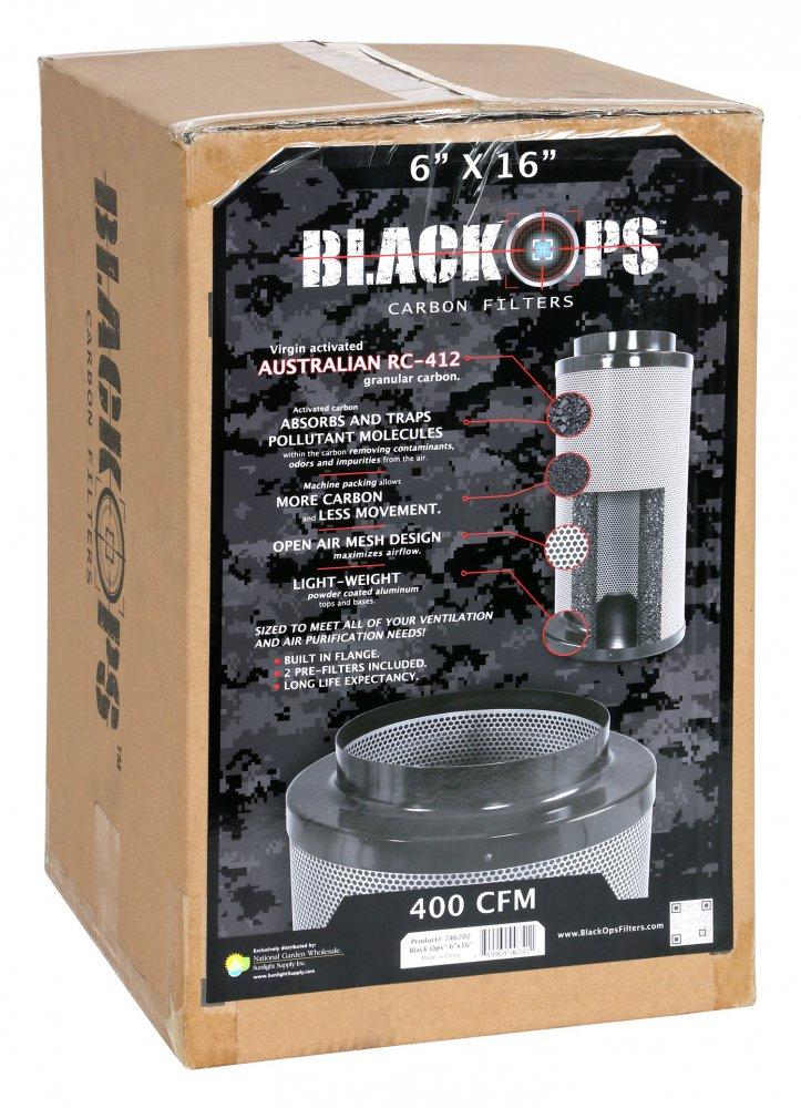 Black Ops uhlíkové filtry