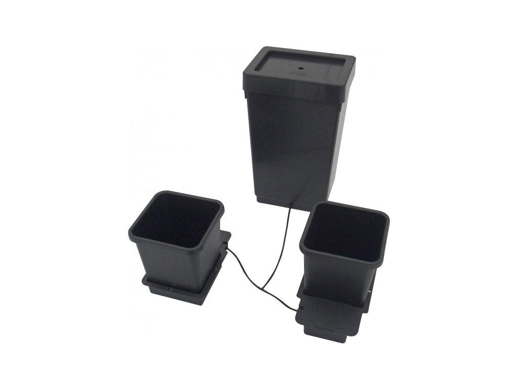 1Pot System, 2 květníky, 6mm rozvod včetně plastové vany 47l