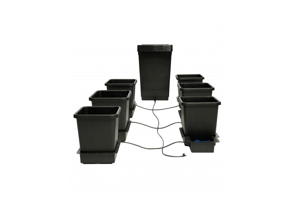 1Pot System, 4 květníky, 6 mm rozvod včetně plastové vany 47l