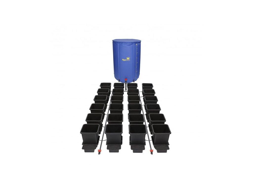 1Pot System, 24 květníků, 16 mm rozvod včetně 400l Flexitank