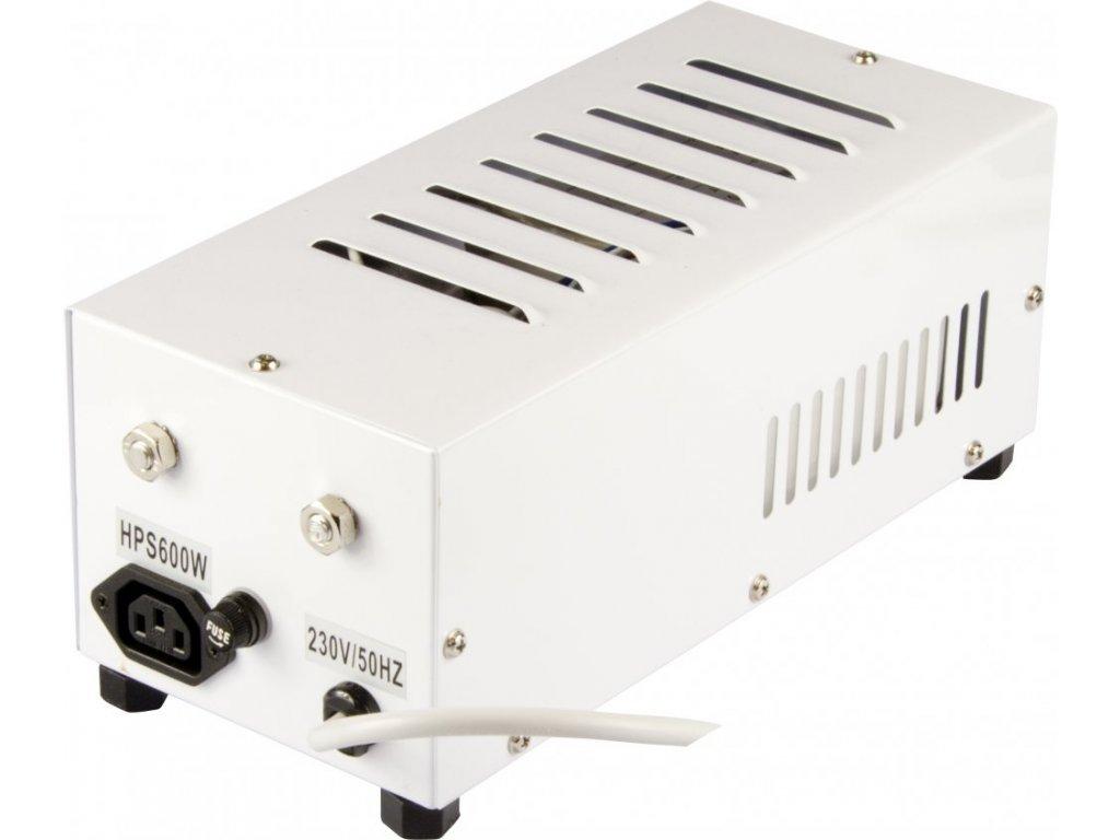 Magnetický předřadník zaboxovaný 600W, HPS i MH, ocelový box, vč. kabelu