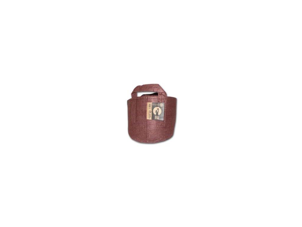 Root pouch Boxer brown, nedegradující, 12l s uchem, 25x21cm