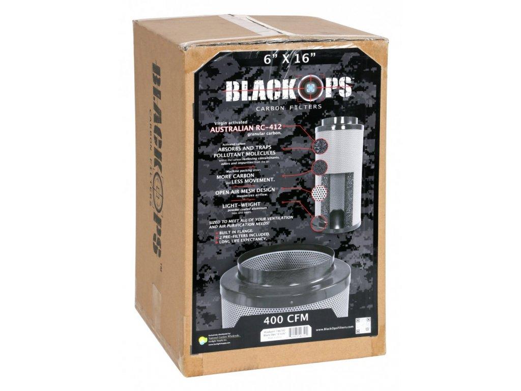 Pachový filtr Black Ops 680 PRO, 40cm, 680m3/hod, 150mm