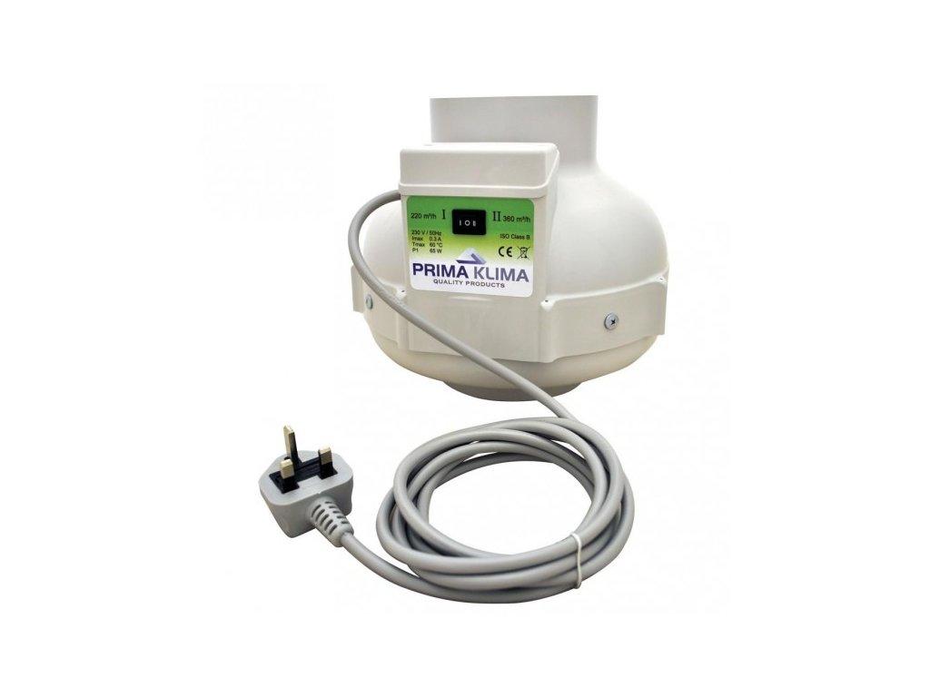 Ventilátor PRIMA KLIMA 2 rychlostní 220/360m3/h, 125mm
