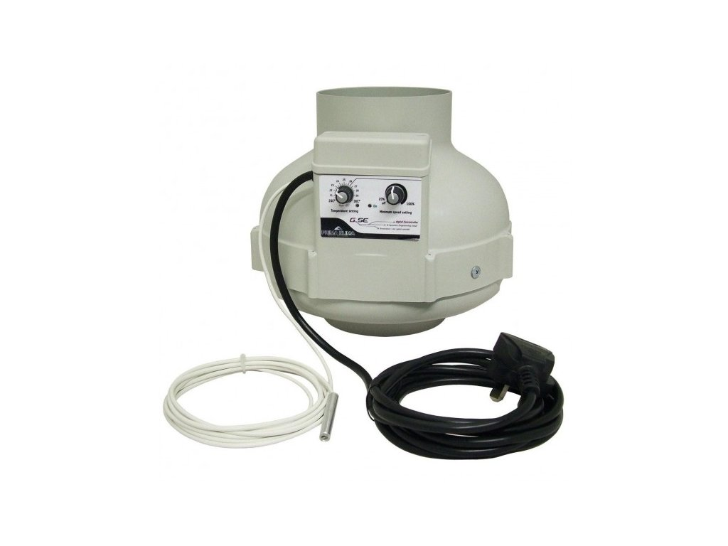 Ventilátor PRIMA KLIMA s regulací a termostatem 800m3/h, 160mm